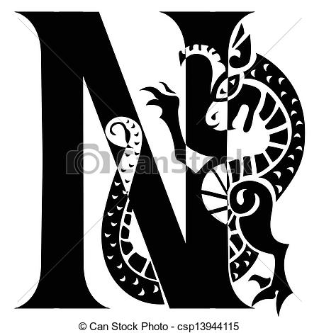 Letter clipart graphic Art letter N Clip with