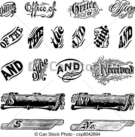 Letter clipart graphic Vector Vintage Easy of Set