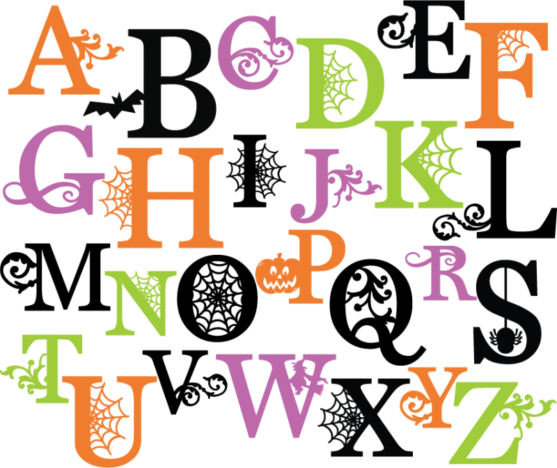 Letter clipart halloween Free With Alphabet Halloween Happy