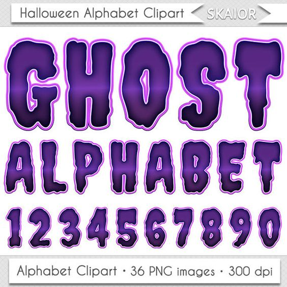 Letter clipart halloween Letters Clipart Numbers Typography Clip