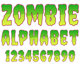 Letter clipart halloween Letters Clipart Numbers Alphabet Art