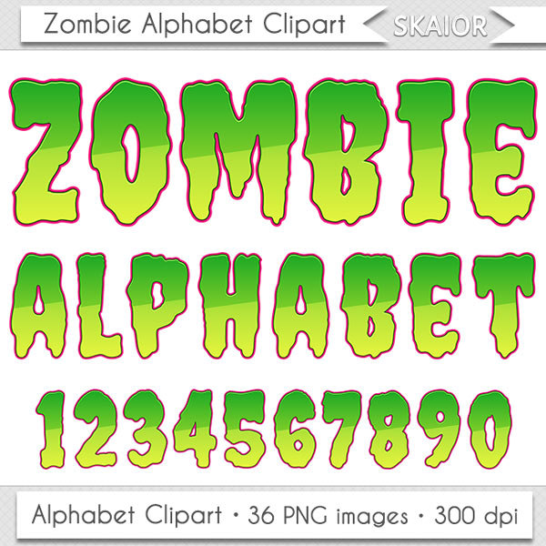 Zombie clipart green Scrapbooking Clipart Halloween this Zombie