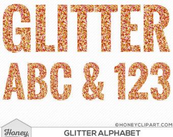 Letter clipart halloween Halloween Halloween October glitter Orange
