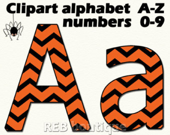 Letter clipart halloween Orange Alphabet letters alphabet alphabet