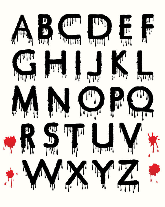 Letter clipart halloween Scary Download Clipart Letters Clipart