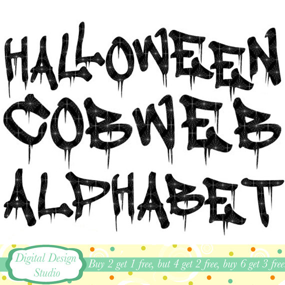 Letter clipart halloween Art Etsy from  Personal