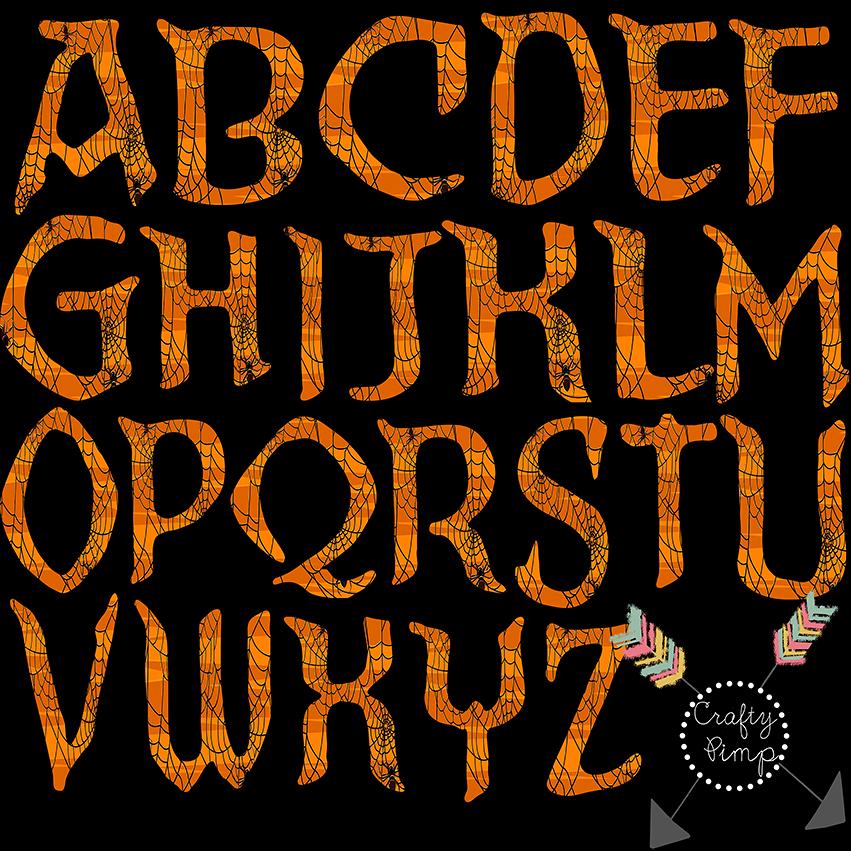 Letter clipart halloween Art (44+) halloween Alphabet letters