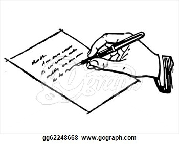 Letter clipart handwriting Hand A Clipart Writing A