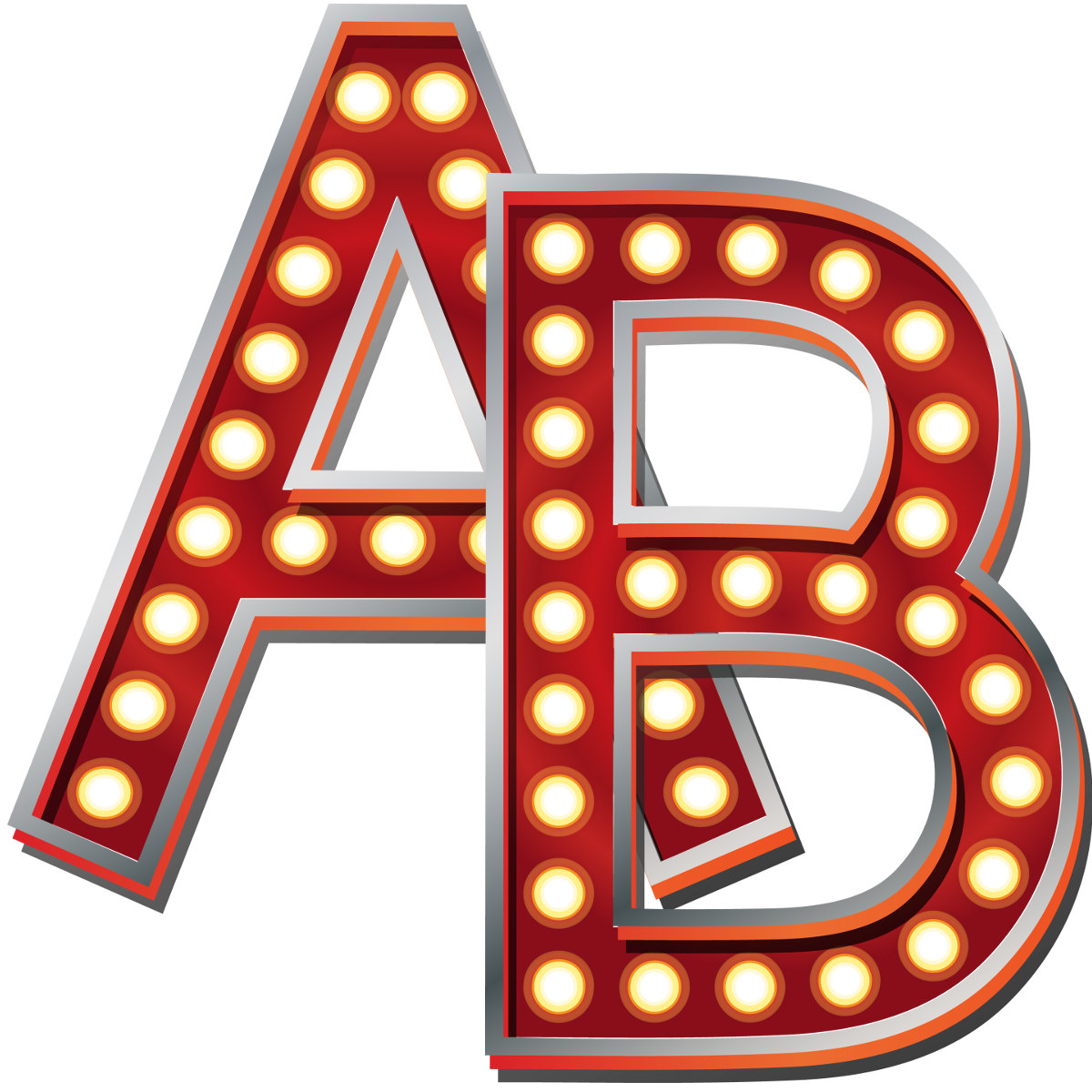 Letter clipart hollywood File Broadway Alphabet Hollywood Red