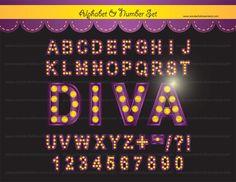 Letter clipart hollywood Alphabet Album Set números In