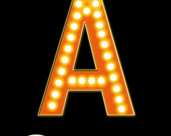 Letter clipart hollywood Alphabet Hollywood Clipart digitalneeds Border