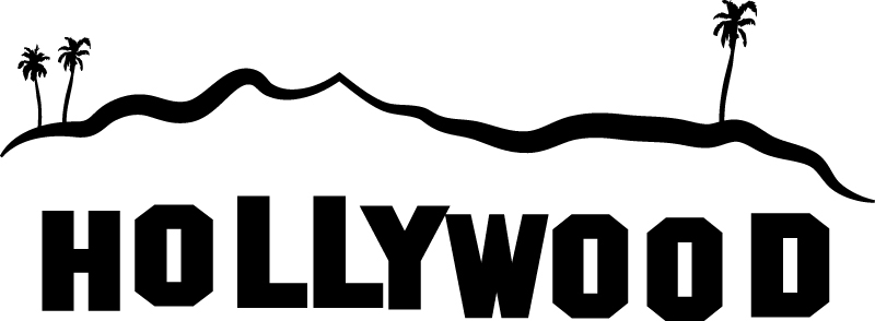 Los Angeles clipart Hollywood Sign Clipart Up close sign ly the