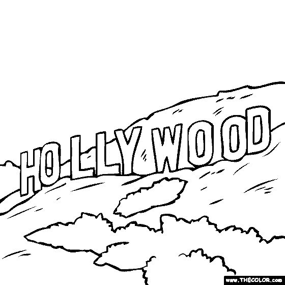 Los Angeles clipart Hollywood Sign Clipart Art Clip in Art Hollywood