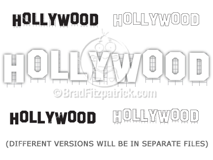 Letter clipart hollywood Graphics Hollywood Clipart Art Graphics