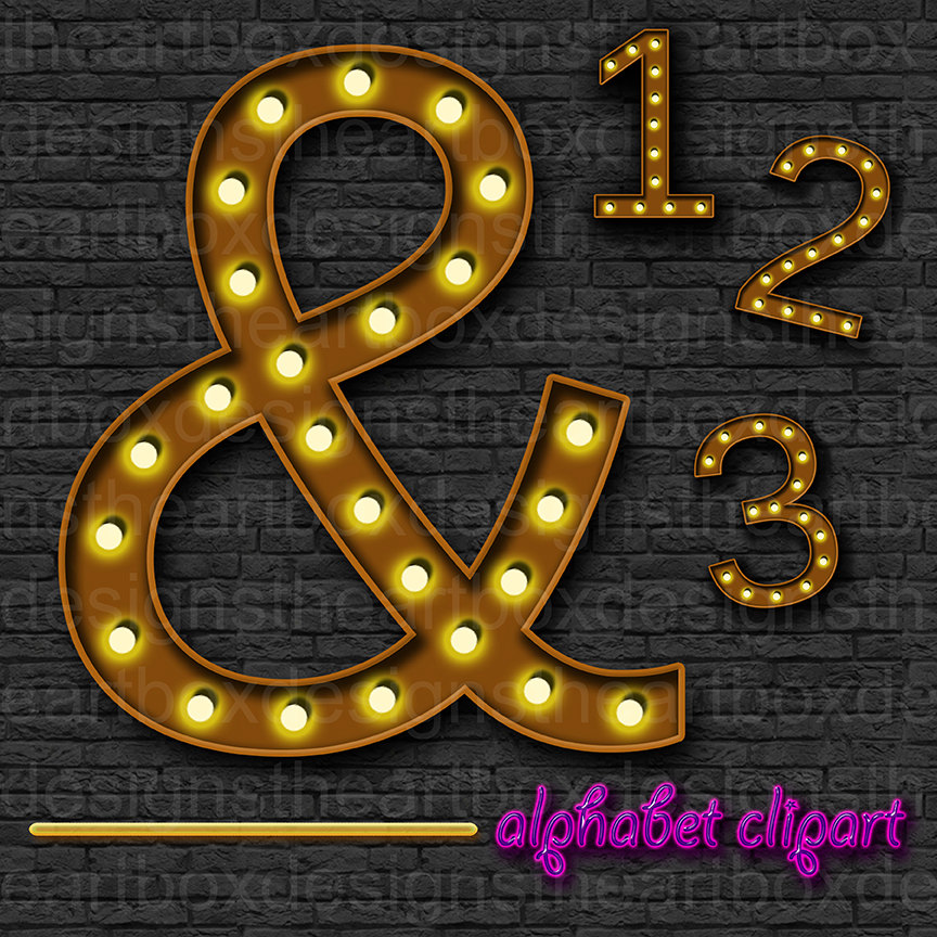 Letter clipart hollywood Theater Letters + Broadway Etsy
