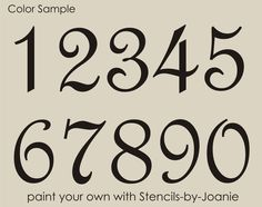 Letter clipart home address Signs A Fancy House Numbers