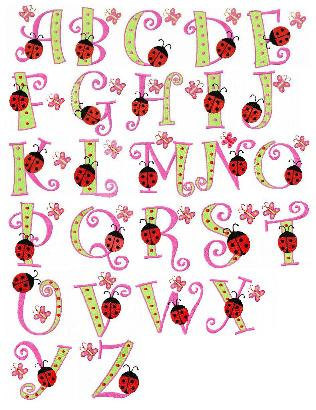 Letter clipart ladybug Machine inch FunStitch letter font