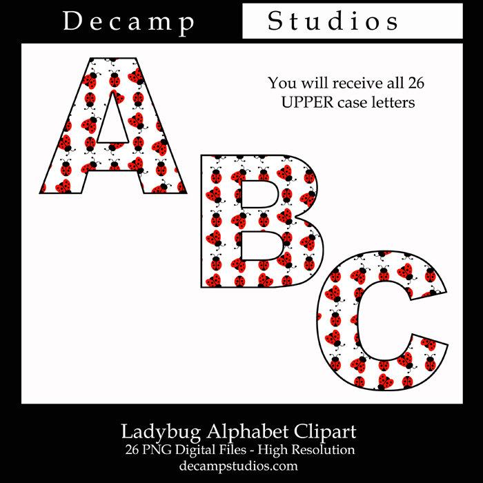 Letter clipart ladybug File ALPHABET Graphics a Letters