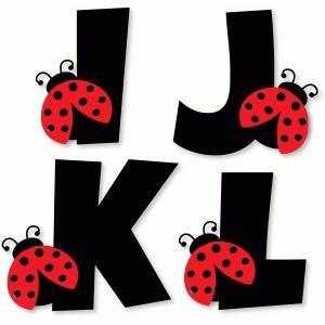 Letter clipart ladybug Anos alphabet i alphabet j