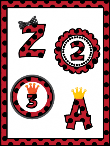 Letter clipart ladybug Clip and Black Crowns Digital