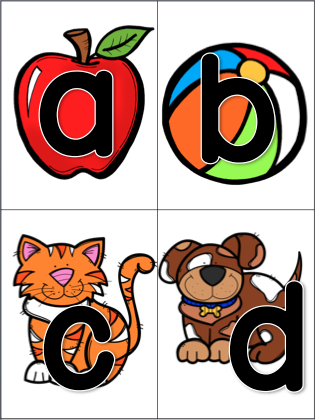 Letter clipart letter sounds Recognition and and Letter Recognition