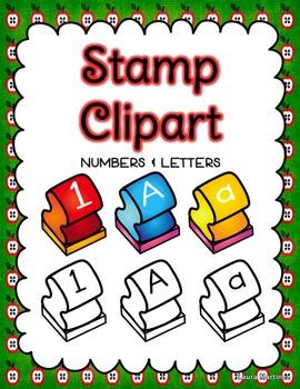 Letter clipart letter stamp #1