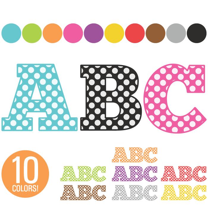 Lettering clipart alphabet Dot Art  260 Clip