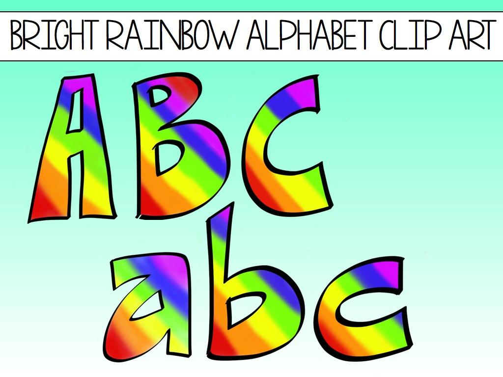 Lettering clipart alphabet Block Rainbows Welcome Clip Alphabet