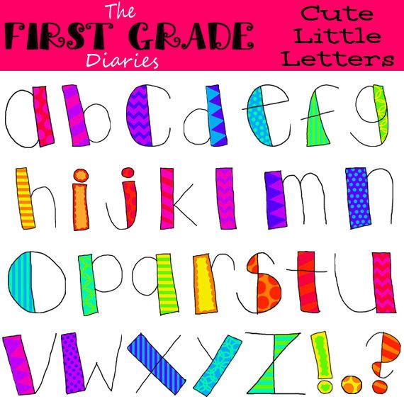 Lettering clipart alphabet Clip FREE Little  Digital