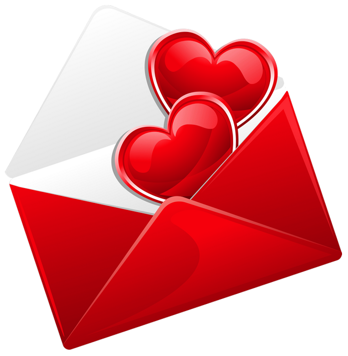Letter clipart love letter Full Love with  Red