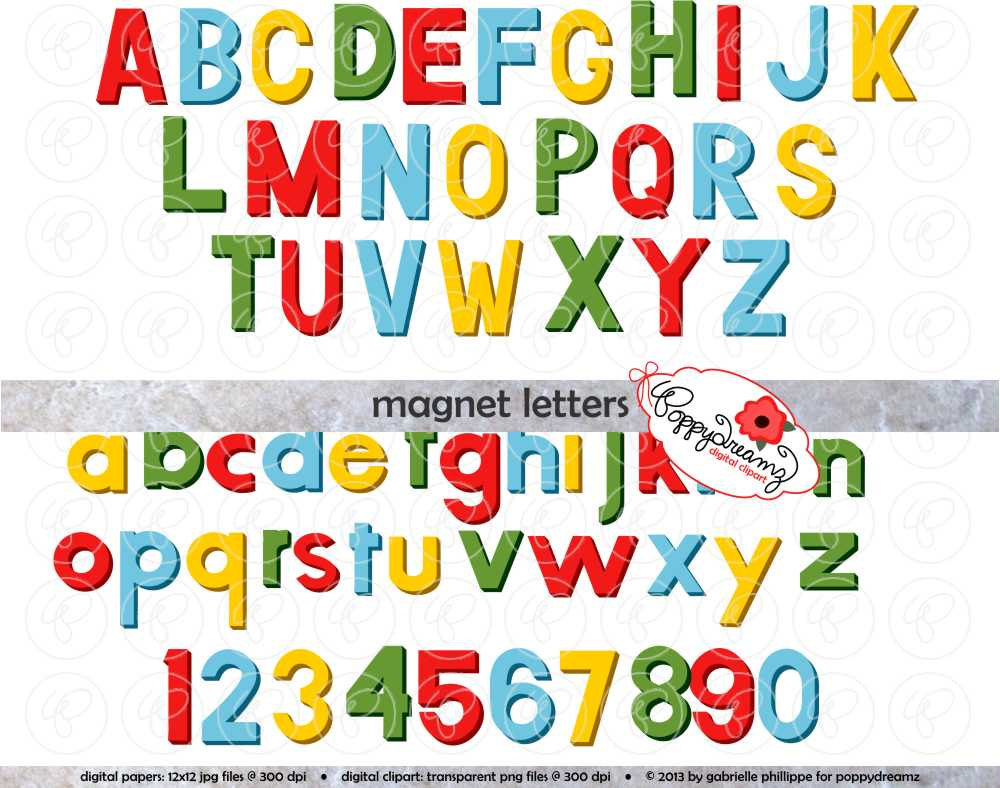 Letter clipart magnetic letter Alphabet: item? Like Art Pack