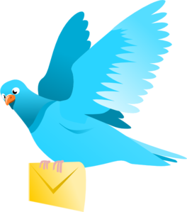 Pidgeons clipart letter Pigeon Delivering Clip Message at