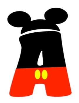 Letter clipart mickey mouse #1