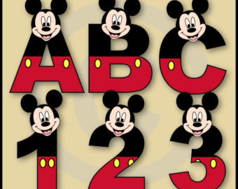 Letter clipart mickey mouse #14