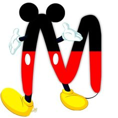 Letter clipart mickey mouse #15