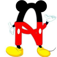 Letter clipart mickey mouse #2