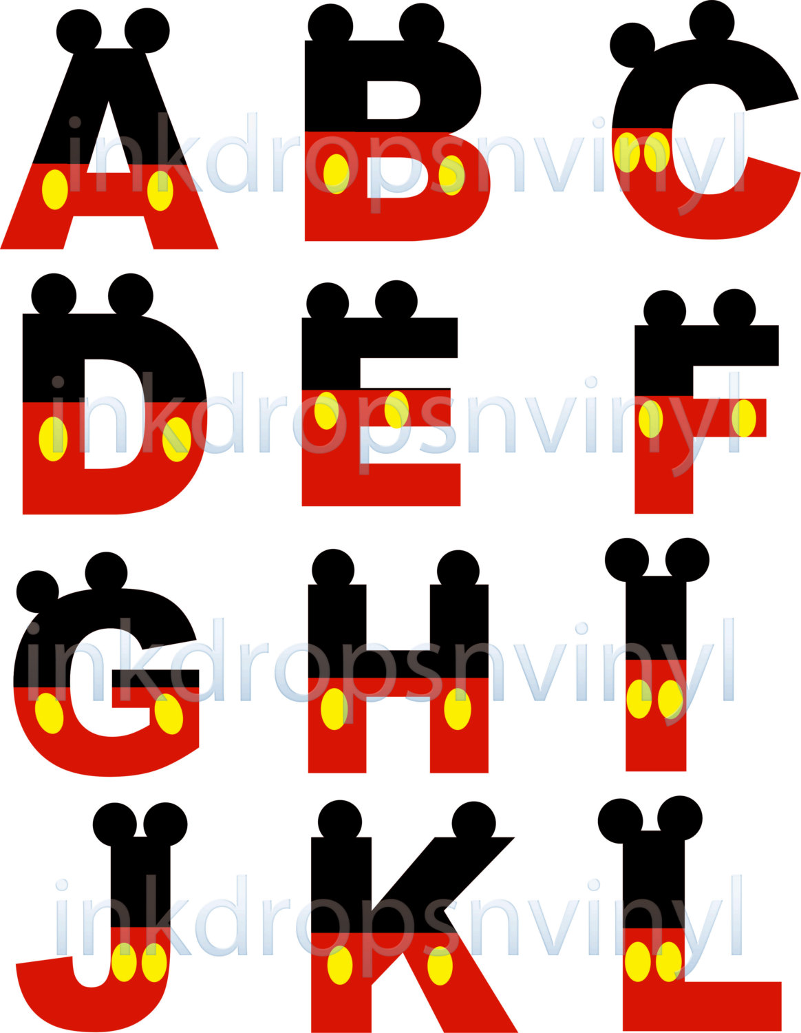 Letter clipart mickey mouse #6