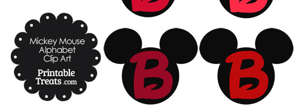 Letter clipart mickey mouse #5