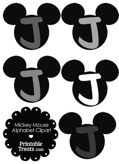 Letter clipart mickey mouse #8
