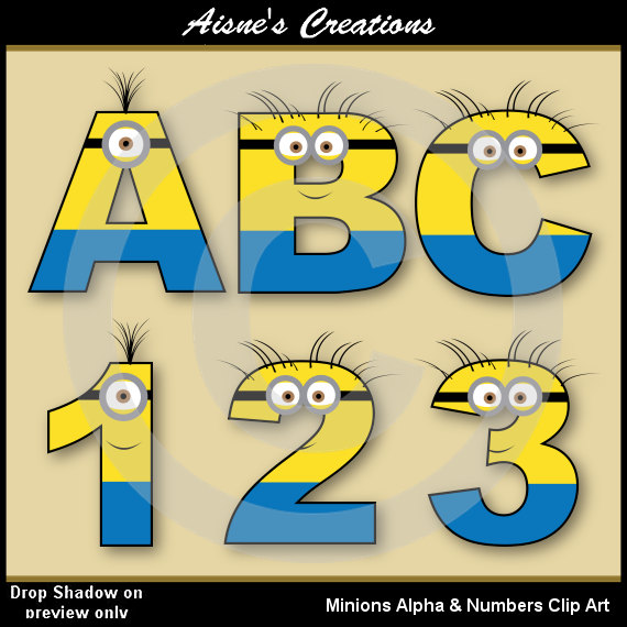 Number clipart minion Birthday  Pin more and