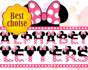 Letter clipart minnie mouse Digital Printable Clipart Party Mickey