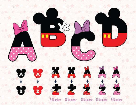 Letter clipart minnie mouse #15