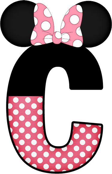 Letter clipart minnie mouse #3