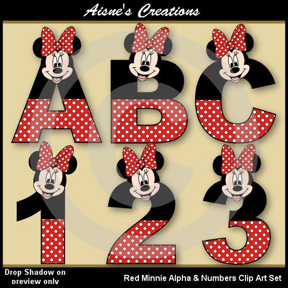 Letter clipart minnie mouse #6