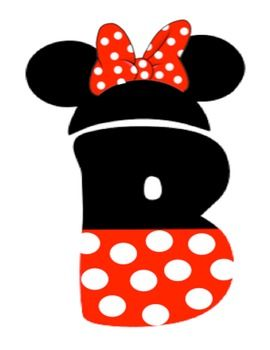 Letter clipart minnie mouse #5