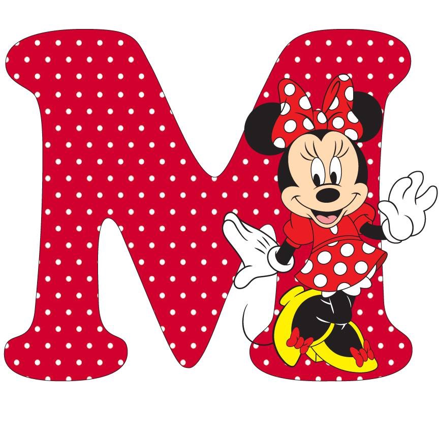 Letter clipart minnie mouse #8