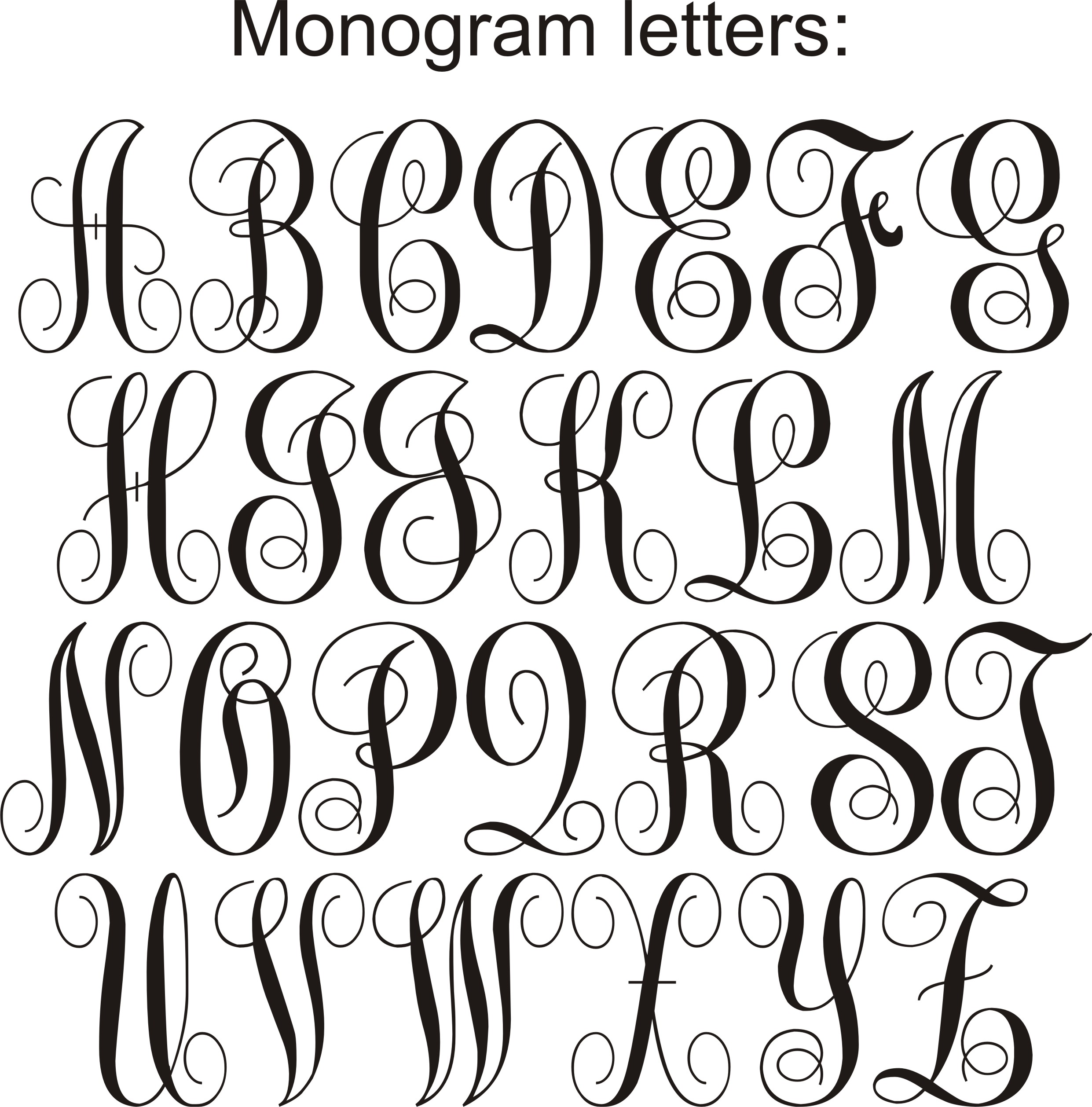 Lettering clipart monogram Artsy jpg and Fartsy Monograms
