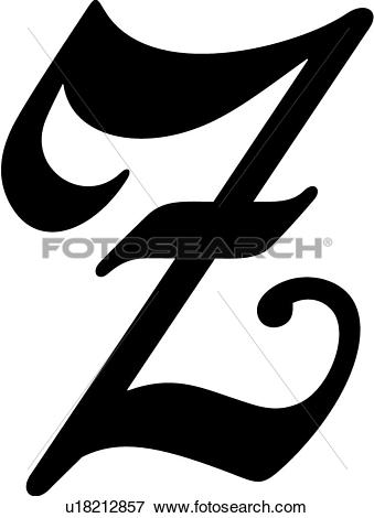 Old Letter clipart black and white Letter letter a 80 Scrolled
