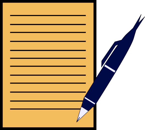 Letter clipart piece paper Cliparts Letter Pen Cliparts letter