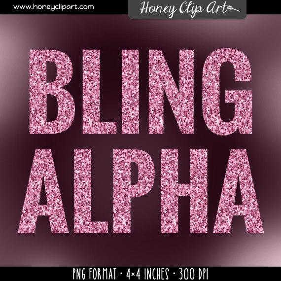 Letter clipart preschool Pink pink alphabet: Pink glitter